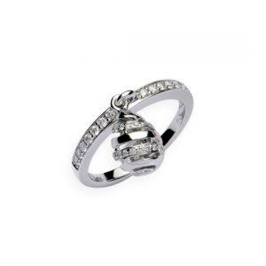 Anillo Diamantes Oro Blanco
