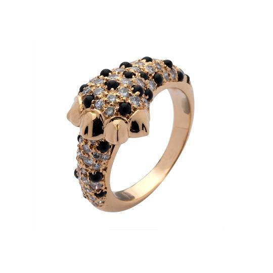 Anillo Leopard Oro Amarillo