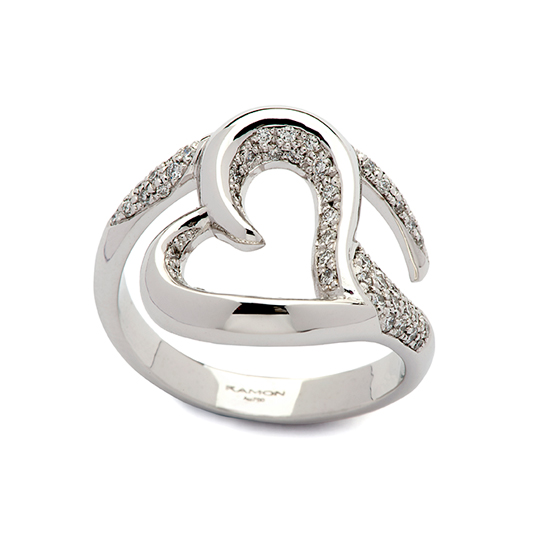 Anillo Oro Blanco Love