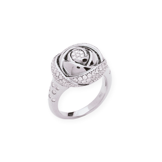 Anillo Oro Blanco Rose