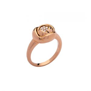 Anillo Rose Oro Rojo Diamantes