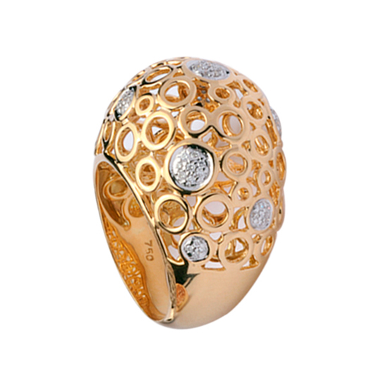 Anillo Oro Amarillo Spheres