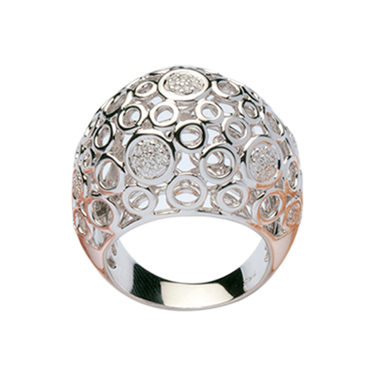 Anillo Oro Blanco Spheres con Diamantes