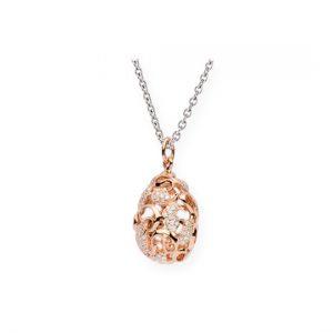 Colgante Oro Blanco Y Oro Rojo con Diamantes (Cashmere)
