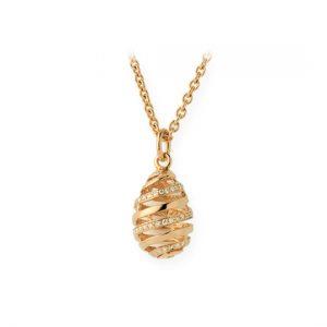 Colgante Oro Amarillo con Diamantes Eggs (Espiral)