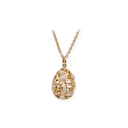 Colgante Oro Amarillo con Diamantes Eggs