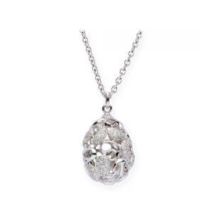 Colgante Oro Blanco con Diamantes