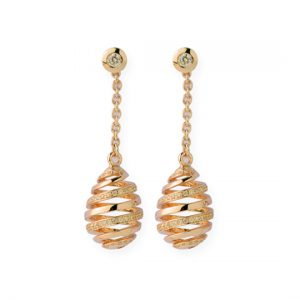 Pendientes Oro Amarillo con Diamantes (Espiral) Eggs