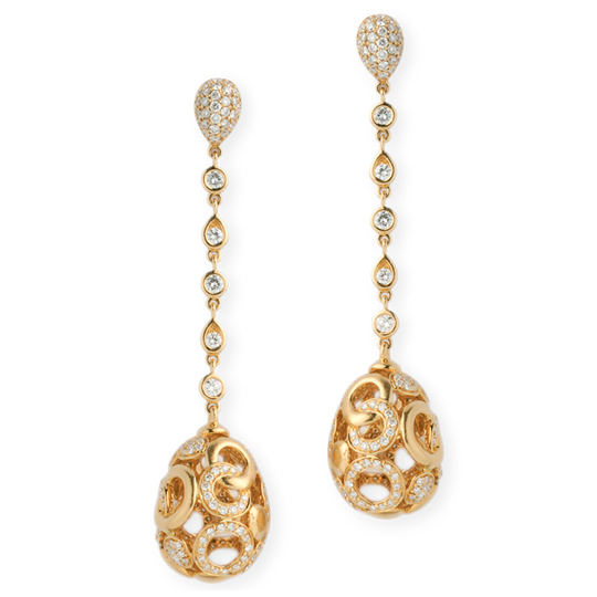 Pendientes Oro Amarillo con Diamantes