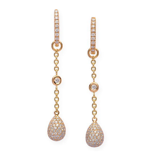 Pendientes Oro Amarillo con Diamantes Eggs