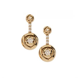Pendientes Oro Amarillo con Diamantes Rose
