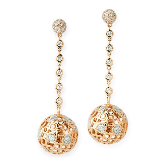 Pendientes Oro Amarillo con Diamantes Spheres