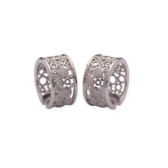 Pendientes Oro Blanco con Diamantes Spheres