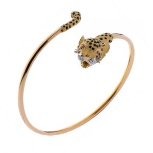 Pulsera Oro Amarillo con Diamantes Leopards