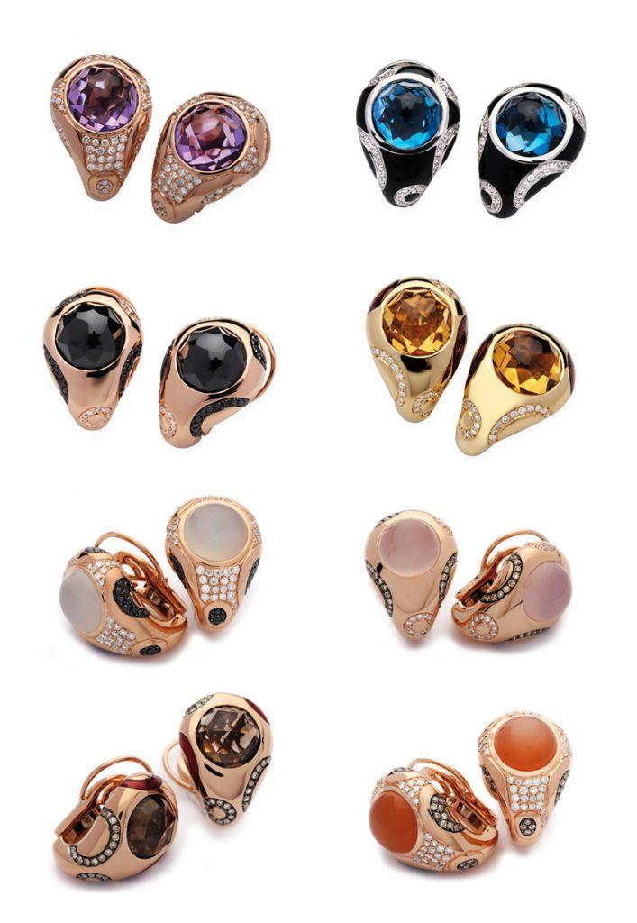 pendientes con piedras preciosas