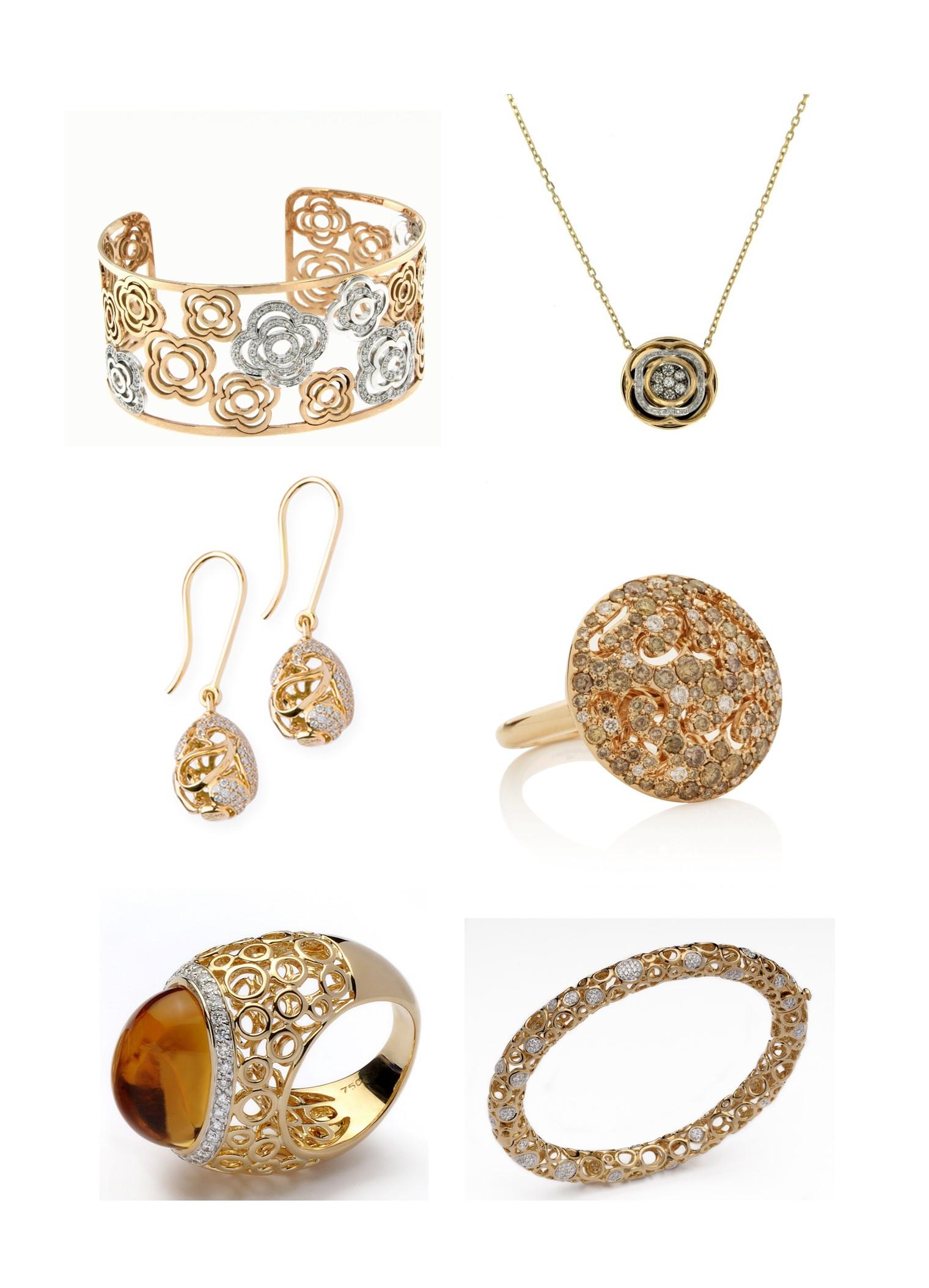 joyas realizadas en oro amarillo