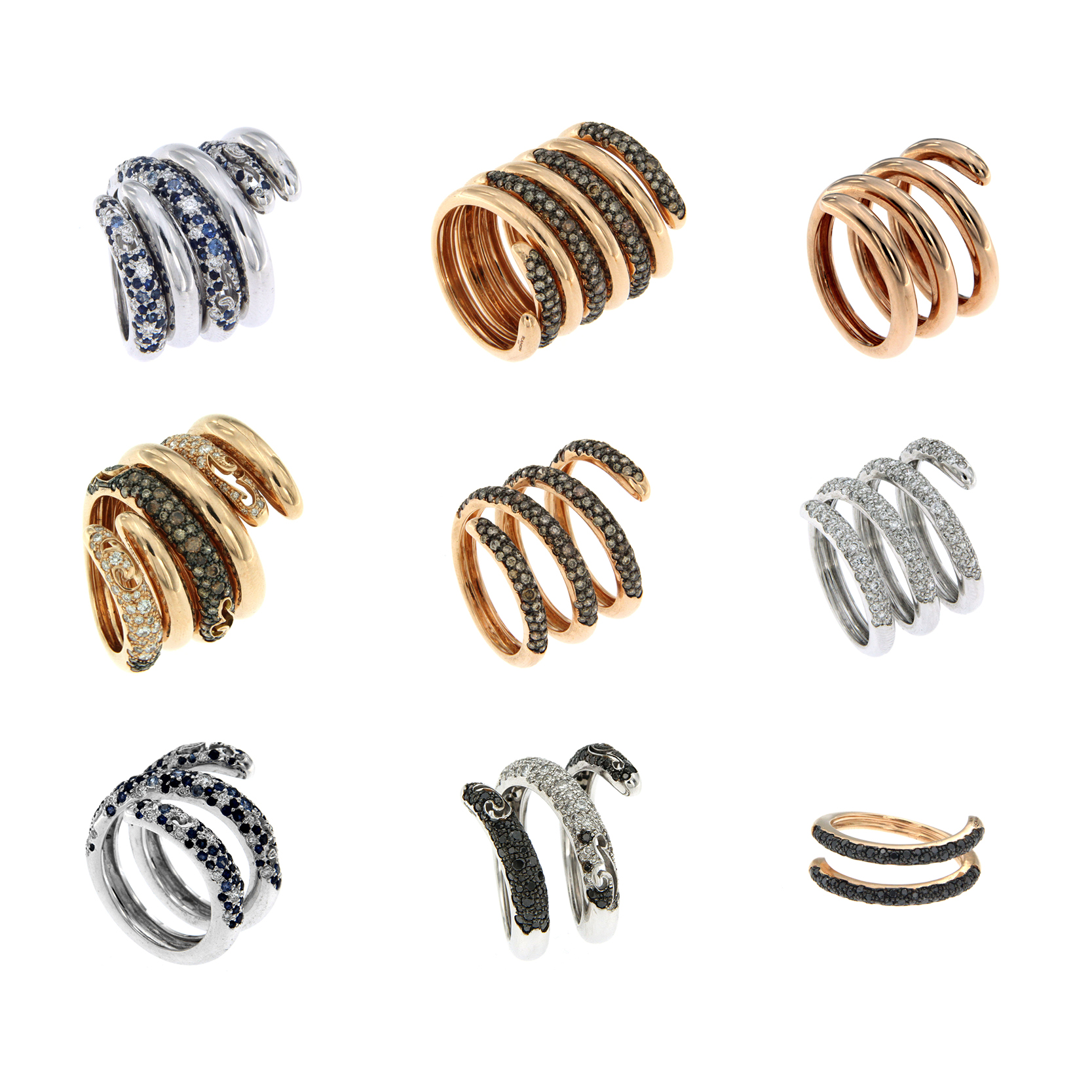 gold spiral rings