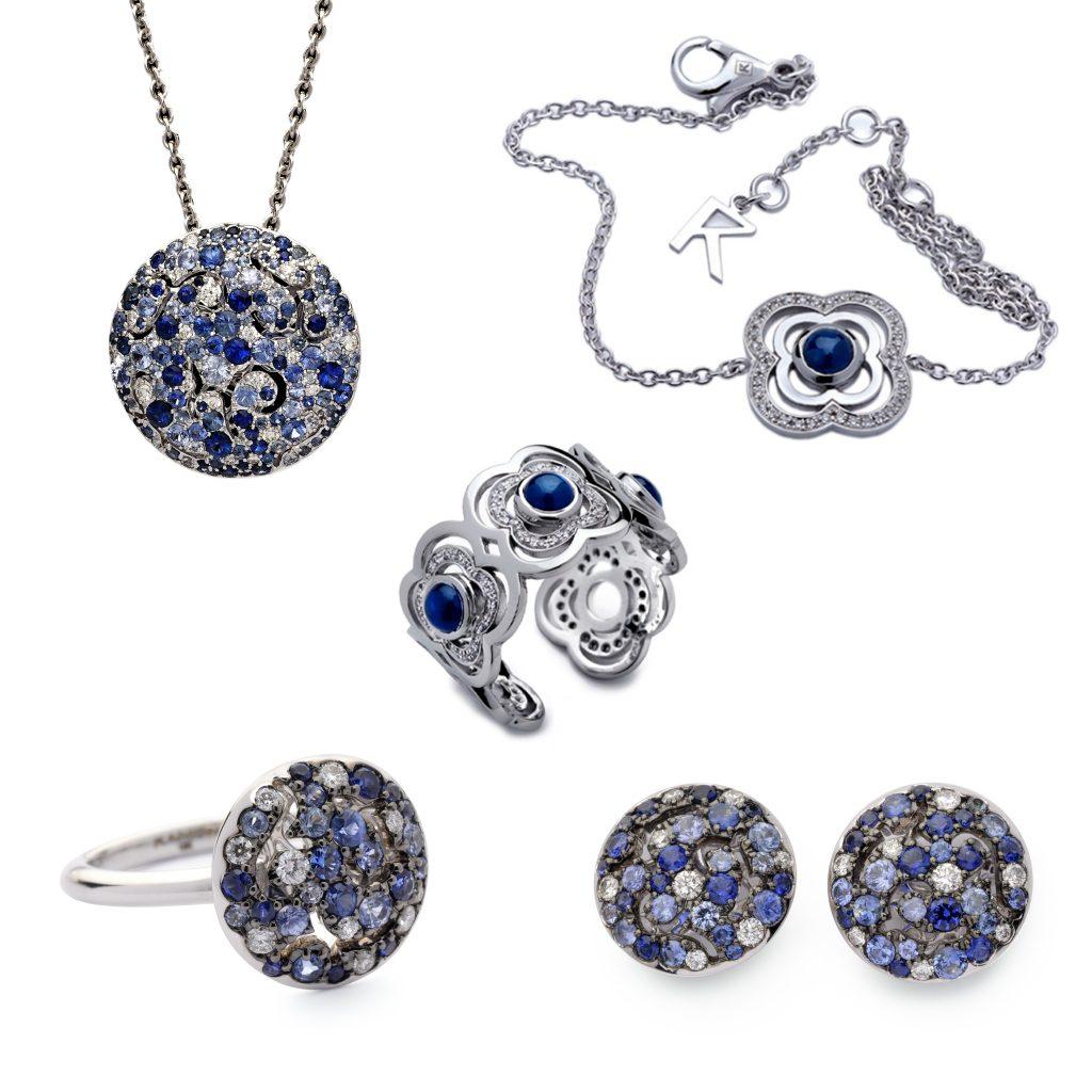 joyas con zafiros azules