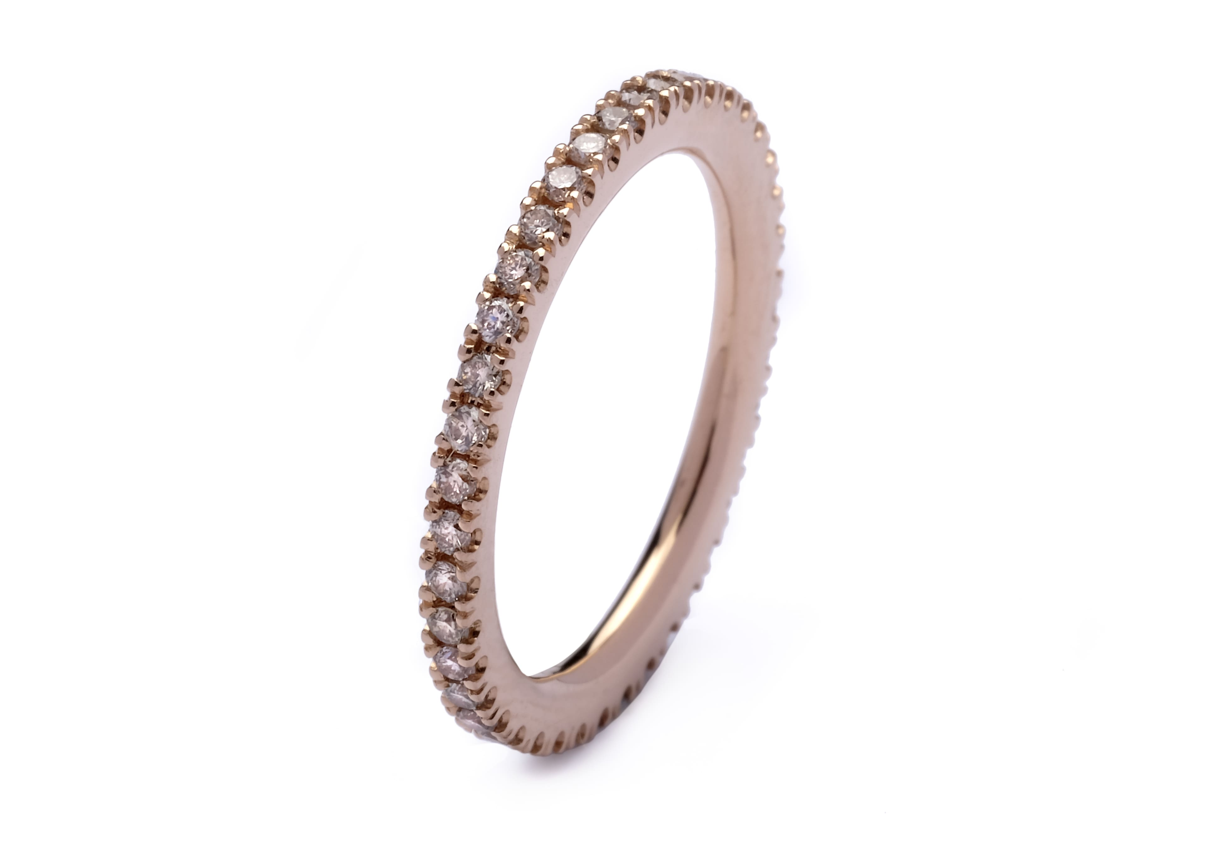 joyas de oro rosa de 18kt con diamantes