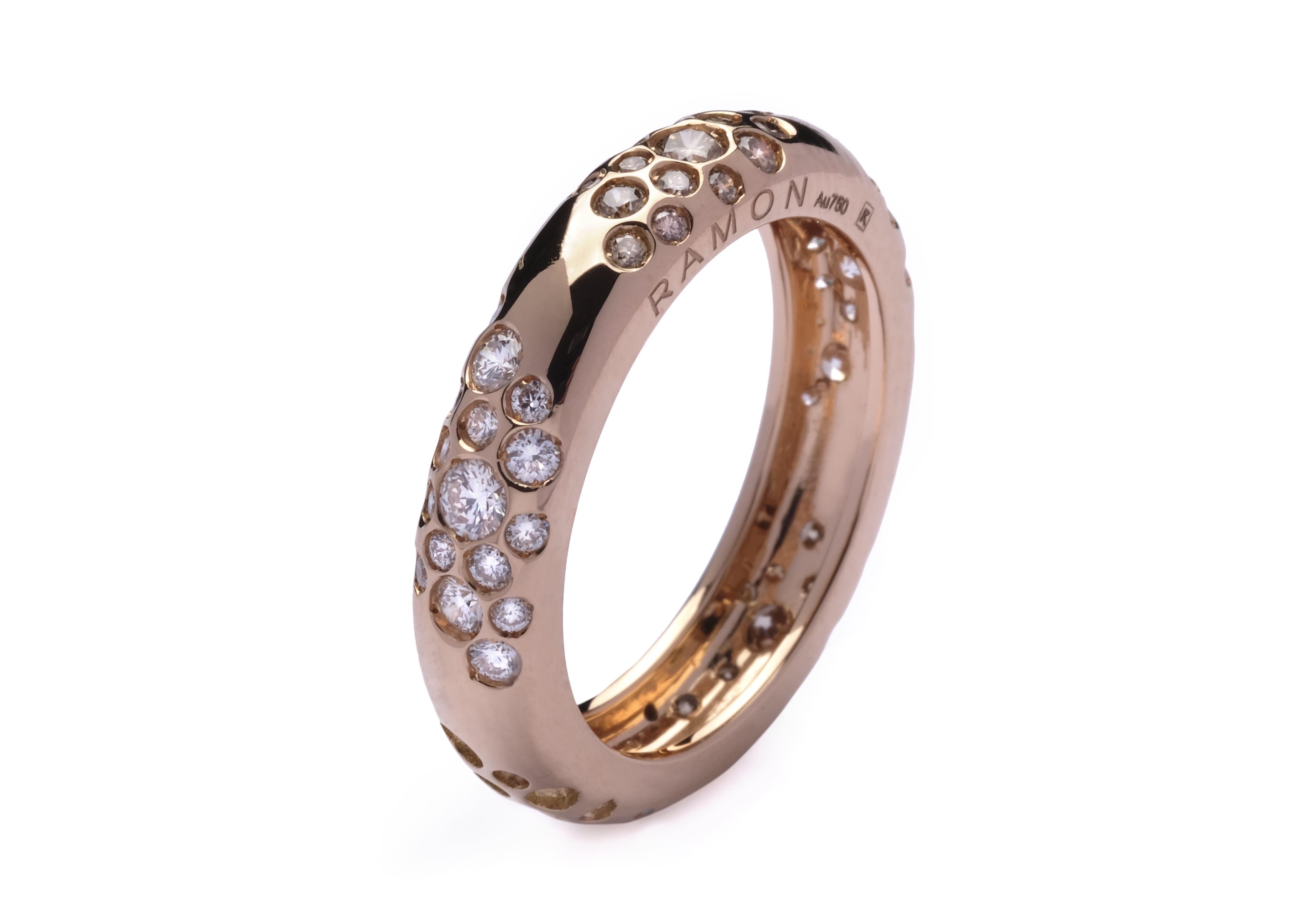 joyas de oro rosa de 18kt