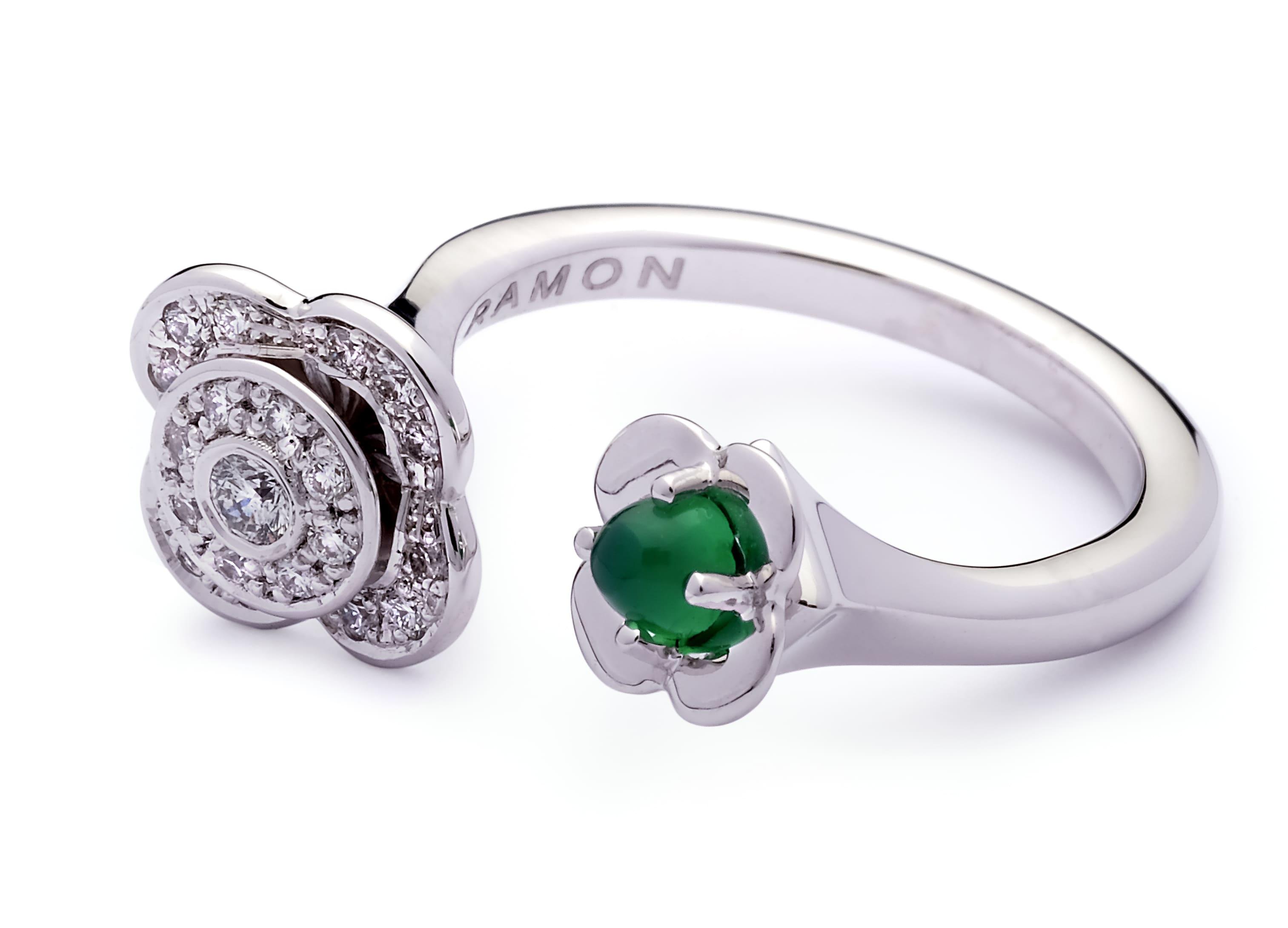 anillos con piedras de color